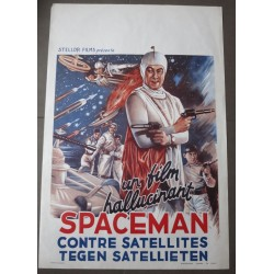 SPACEMAN AGAINST SATELLITES